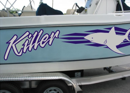 Boat Names, Graphics & Striping