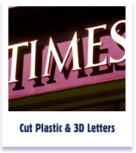 Cut Plastic and 3D Letters