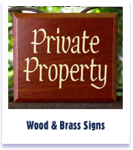 Wood and Brass Signs